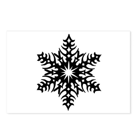 Star Snowflake 2 Postcards (Package of 8)