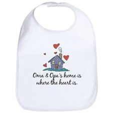 Oma & Opa's Home is Where the Heart Is Bib