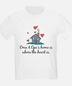 Oma & Opa's Home is Where the Heart Is T-Shirt