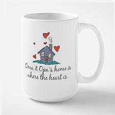 Oma & Opa's Home is Where the Heart Is Mug