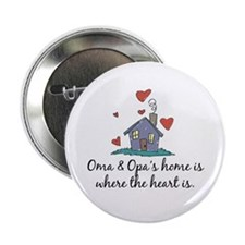 """Oma & Opa's Home is Where the Heart Is 2.25"""" Butto"""