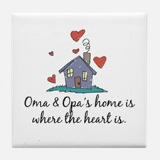 Oma & Opa's Home is Where the Heart Is Tile Coaste