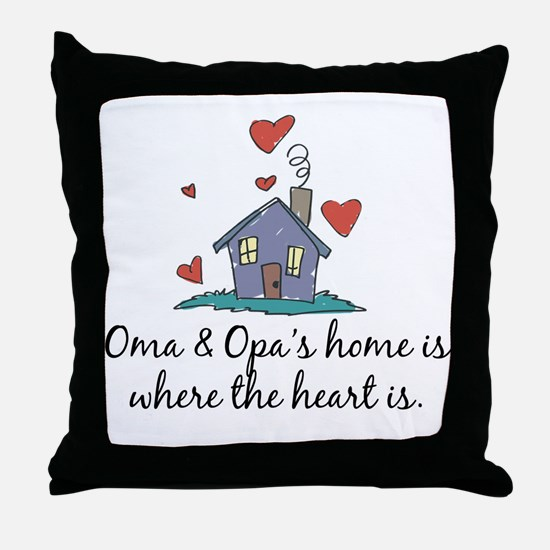 Oma & Opa's Home is Where the Heart Is Throw Pillo