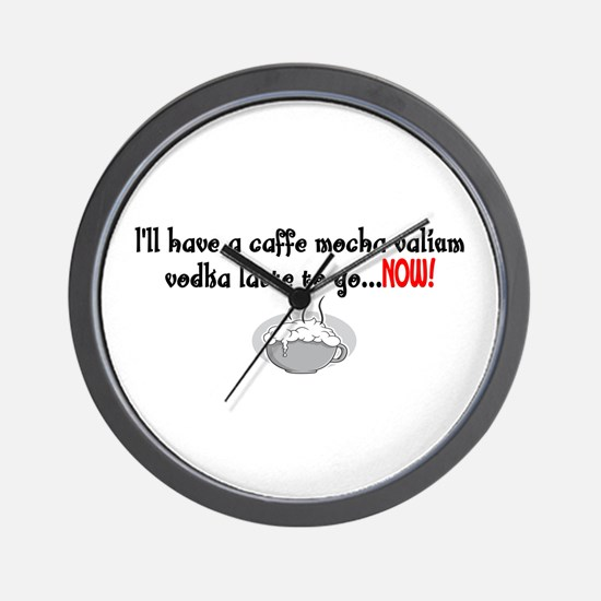Cafe Mocha vodka valium Wall Clock