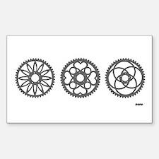 Three Chainrings rhp3 Rectangle Sticker 10 pk)
