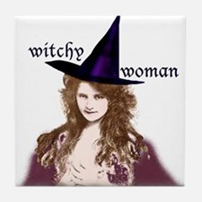 Witchy woman! Tile Coaster