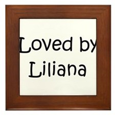 Unique Liliana Framed Tile