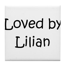 Cute Lilian Tile Coaster