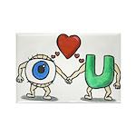 Eye Love U Rectangle Magnet