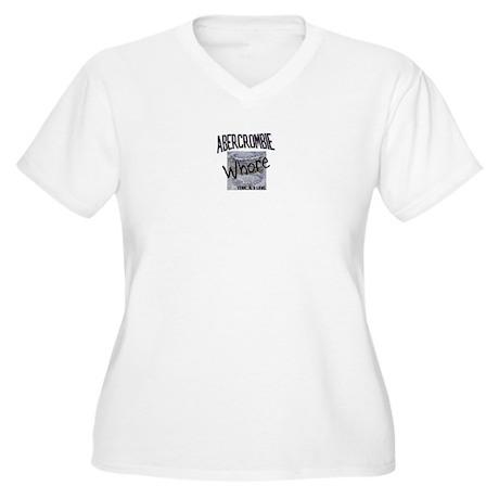 Abercrombie Whore Women's Plus Size V-Neck T-Shirt