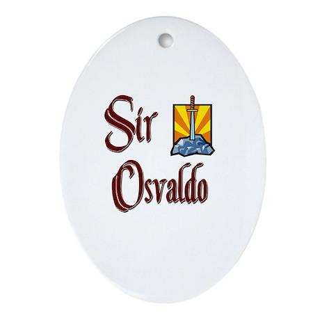 Sir Osvaldo Oval Ornament