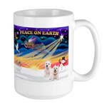 XmasSunrise/2 Westies Large Mug