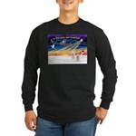 XmasSunrise/2 Westies Long Sleeve Dark T-Shirt