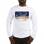 XmasSunrise/2 Westies Long Sleeve T-Shirt