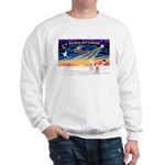 XmasSunrise/2 Westies Sweatshirt