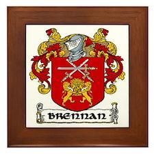 Brennan Coat of Arms Framed Tile