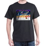 XmasSunrise/ Vizsla #1 Dark T-Shirt