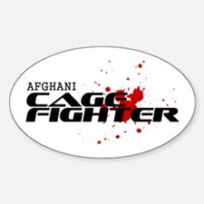 Afghani Cage Fighter Oval Decal