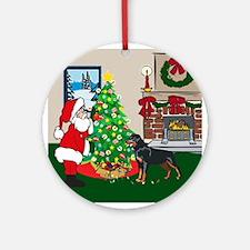 Deck The Halls Rottweiler Ornament (Round)