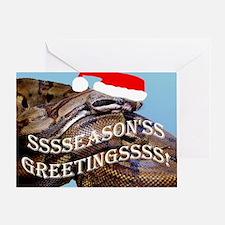 Santa Snake Greeting Card