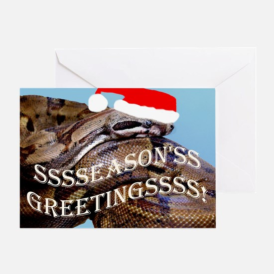 Santa Snake Greeting Card