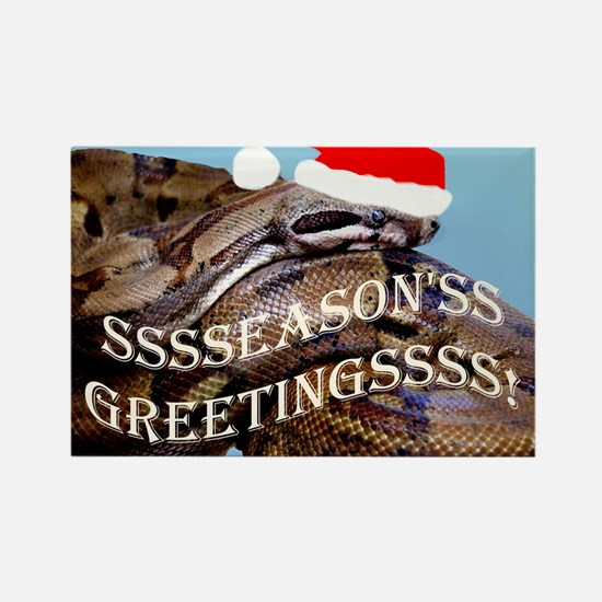 Santa Snake Rectangle Magnet