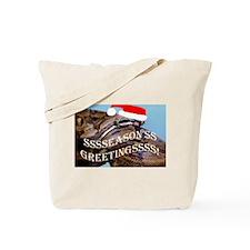 Santa Snake Tote Bag