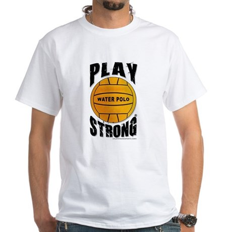 Play Strong Water Polo White T-Shirt