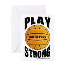 Play Strong Water Polo Birthday Card