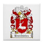 Brochwicz Family Crest Tile Coaster