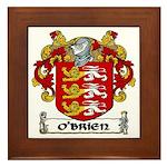 O'Brien Coat of Arms Framed Tile