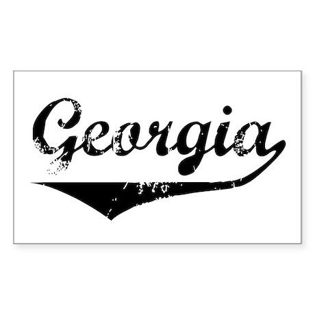 Georgia Rectangle Sticker