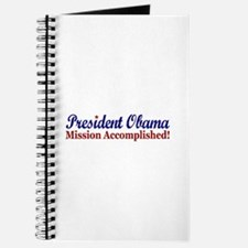 President Obama Mission Accomplished Journal