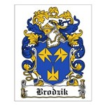 Brodzik Family Crest Small Poster
