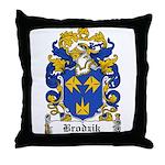 Brodzik Family Crest Throw Pillow