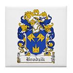 Brodzik Family Crest Tile Coaster
