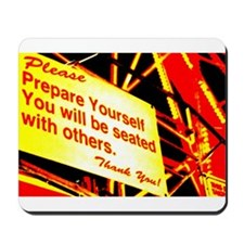You will be seated with others. Mousepad