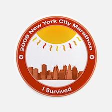 """New York Marathon - I Survived 3.5"""" Button"""