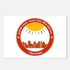 New York Marathon - I Survived Postcards (Package