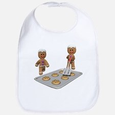 GINGERBREAD MEN DEFENSE Bib