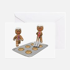GINGERBREAD MEN DEFENSE Greeting Card