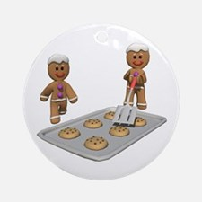 GINGERBREAD MEN DEFENSE Ornament (Round)