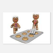 GINGERBREAD MEN DEFENSE Postcards (Package of 8)