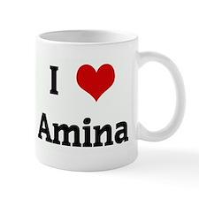 I Love Amina Mug