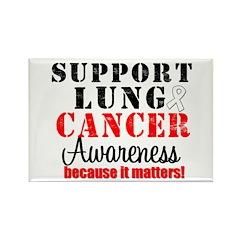 Lung Cancer Awareness Matters Rectangle Magnet (10