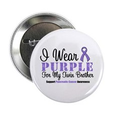 """I Wear Purple (Twin Brother) 2.25"""" Button"""