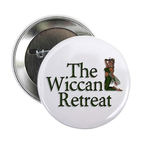 Wiccan Retreat Fairy Button