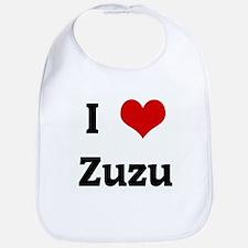 I Love Zuzu Bib