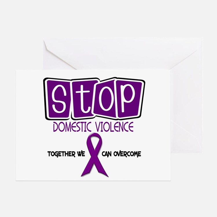 Stop Domestic Violence 1 Greeting Card