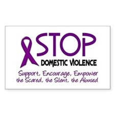 Stop Domestic Violence 2 Rectangle Decal